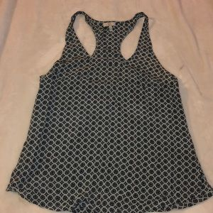 Joie Printed Racerback Silk Tank Top Size Small